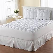 queen pillow top mattress topper thick cotton padded bedding soft