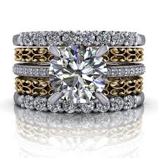 stackable wedding bands 14 kt gold diamond engagement ring stacking wedding bands
