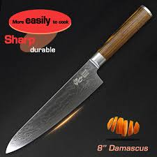 Damascus Kitchen Knives For Sale by Home Kitchen Steel Chef Knife Sale 9 Deals From 6 98