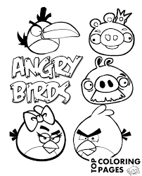 angry birds coloring print color free