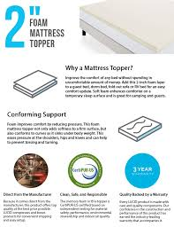 lucid 2 in full xl foam mattress topper lu20fx20rt the home depot