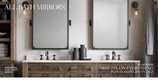 Bathroom Mirrors All Bath Mirrors Rh Pertaining To Restoration Hardware Bathroom