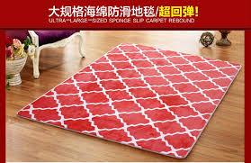 Red Washable Rug Washable Rug Living Room Carpet Thick Floor Blanket Yoga Mat