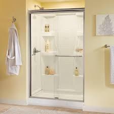 glass shower door handles delta simplicity 48 in x 70 in semi framed sliding shower door