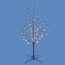Pre Lit Christmas Twig Tree 4 U0027 Lighted Led Brown Artificial Christmas Twig Tree Pure White