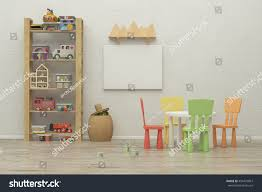 kids game room interior image 3d stock illustration 494479867