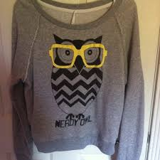 67 forever 21 sweaters grey nerdy owl sweater for