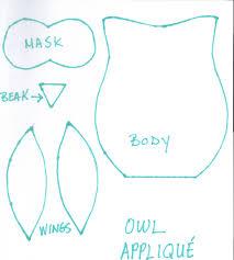 7 best images of cute owl applique printable owl applique