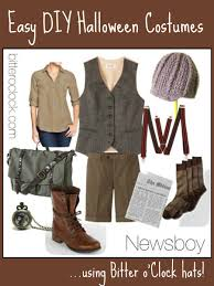 easy diy halloween costumes newsboy bitter o u0027clock