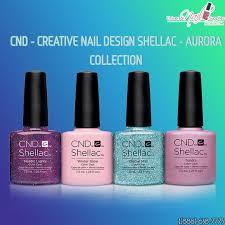 cnd creative nail design shellac aurora collection creative