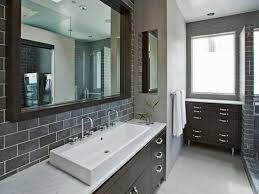 Black Bathroom Cabinet Ideas by Black Bathroom Tile Ideas Brown Laminated Wooden Vanity Sleek