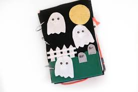 diy a ghostly no sew quiet book positively oakes