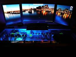 high performance custom rig built inside a glass desk hitachi