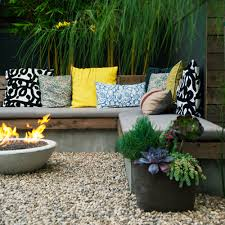 Flower Pot Arrangements For The Patio Ideas For Fire Pits Sunset