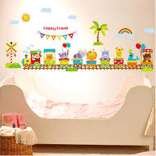 online get cheap large 3d wallpaper baby room aliexpress com large removable train wall stickers for kids room baby room diy vinyl wall poter cute colorful
