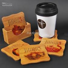Unique Drink Coasters 2017 Novelty Bamboo Coffee Table Coasters Set Eco Friendly