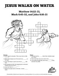 jesus walks on water sunday crossword puzzles these jesus
