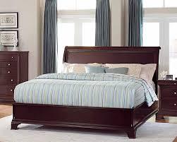 Platform Sleigh Bed Traditional Solid Wood Bedroom Furniture Chicago