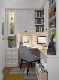 cute interior for small office designs with l shape study table