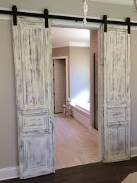 Barn Door Closet Hardware by Double Sliding Barn Door Hardware Kit For Two Doors With Track