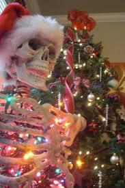 creepy christmas trees obsessed with skulls