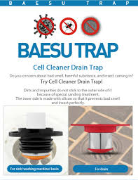 cell cleaner bathroom floor drain protector preventing bad smell