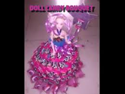 How To Make A Candy Bouquet Diy Make A Beautiful Doll Candy Bouquet Youtube