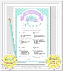 Baby Shower Needs List - baby what is in your phone game tea party theme baby shower baby