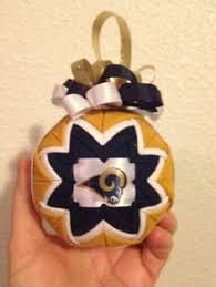 los angeles rams football helmet felt handmade ornament