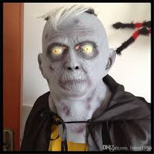 super horror old man mask scary vampire witch ghost face scream