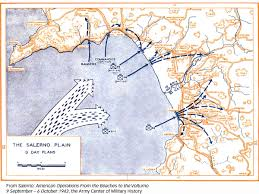 Blank World War 2 Map by Avalanche How Both Sides Lost At Salerno Historynet