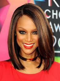 medium bob hairstyles for black women with highlight hair women
