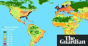 map world oceans suffocating dead zones spread across world s oceans environment