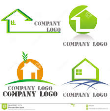 house architecture real estate green logos royalty free stock