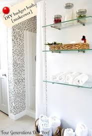 Build Wall Shelves Without Brackets by How To Hang Glass Shelves Using Bingo Brackets Budget Bathroom