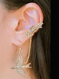 bajoran earring arabesque bajoran ear cuff silver marty magic store