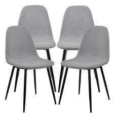 Esszimmer St Le Designklassiker En Casa Esstisch Mit 4 Stühlen Grau 120x70cm Küchentisch
