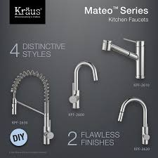 Commercial Style Kitchen Faucet by Kpf 2630ss Mateo Single Lever Commercial Style Kitchen Faucet In