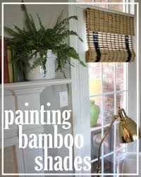 Bamboo Shades Blinds Painted Bamboo Shades In Our Living Room Living Rooms Room And