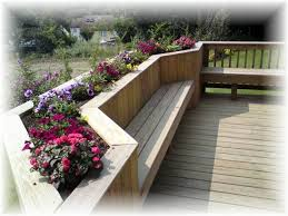 Deck Planters And Benches - 22 best moms deck images on pinterest patio ideas wood and