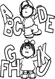 children writing kids coloring page wecoloringpage