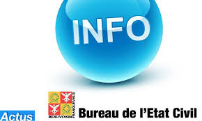 bureau de l 騁at civil ouverture du bureau de l etat civil beauvoisin site officiel