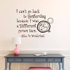 popular alice in wonderland wall mural buy cheap alice in i can t go back to yesterday english quotes decasl alice in wonderland series vinyl