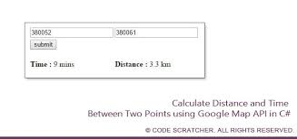 distance between two points map calculate distance and between two points map