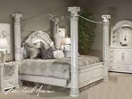 fancy design king canopy bed set southampton walnut 6 pc king