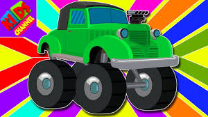 monster truck cartoon videos learn colors with vintage monster trucks color vehicles video