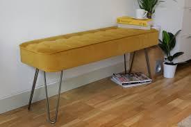 hairpin leg panel bench u2014 custom made furniture manchester loose