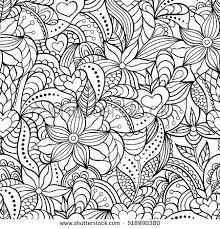 floral easter egg white backgroundcoloring stock vector