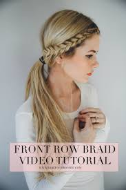 hair braid across back of head front row braid tutorial barefoot blonde by amber fillerup clark