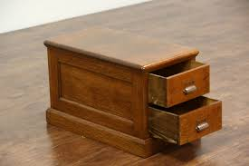 oak small antique 2 drawer file cabinet pat brown of st paul